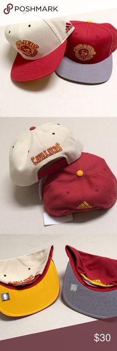 Cleveland Cavaliers - NEW Adidas Snapbacks 🏀 Cleveland Cavaliers  🏀 NEW Adidas Snapbacks    2 hat bundle!  2 for $30.   Vintage logo - Cavs! Adidas Accessories Hats