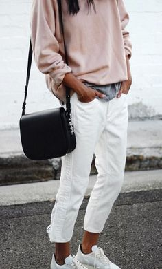 all nude everything street style with white converse