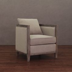 Enhance your home and living decor with the uniquely styled and crafted Elliot Lounge Chair. Soft and durable natural linen fabric covers this unique piece, while a solid wood frame featuring a meticulously natural reclaimed finish completes the look.