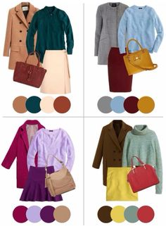Fall color palette pairings colour combinations fashion, color blocking fashion, color combinations for clothes Colour Combinations Fashion, Color Combinations For Clothes, Fashion Colours, Colorful Fashion, Color Combos, Color Wheel Fashion, Color Schemes, Color Mix, Color Trends