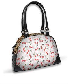 Liquor Brand Damen CHERRY WHITE Handtasche/Bags.Tattoo,Pin up,Biker,Custom Style