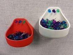Thumbtack-able thumbtack holder by JamieLaing http://thingiverse.com/thing:111635