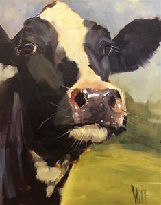"Daily Paintworks - ""Bernardo"" - Original Fine Art for Sale - © Patty Voje Farm Paintings, Animal Paintings, Cow Paintings On Canvas, Cow Drawing, Painting & Drawing, Watercolor Animals, Watercolor Art, Cow Pictures, Cow Pics"