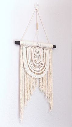 Modern Macrame Wall Hanging :Energy Flow no.12: HIMO ART by May Sterchi