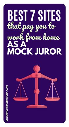 Looking for a unique work from home job? Becoming an online juror is yet another work at home position that is quickly gaining popularity with US-based telecommuters. The idea behind a mock jury is actually nothing new. It is a method that lawyers and other legal experts have used to brush up on their cases. Here are the seven best online mock jury websites that pay! #onlinejobs #workathome #juror Home Based Work, Work From Home Tips, Earn Money Online Fast, Earn Money From Home, Online Jobs From Home, Online Work, Customer Service Jobs, Jobs For Teens, Virtual Assistant Jobs