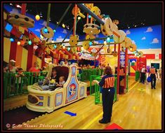 Loading area of the Toy Story Midway Mania MUST.Ride.this.someday!!!