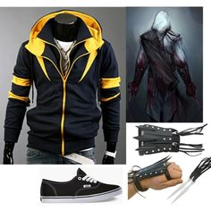 The Yellow Destined Hoodie by geekhoodies on Polyvore featuring polyvore, fashion, style, Vans, clothing, outfit and Geek