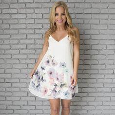 Yours Always Floral Shift Dress  www.daintyhooligan.com