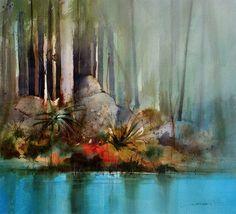 Painting of Turquoise Water - © John Lovett
