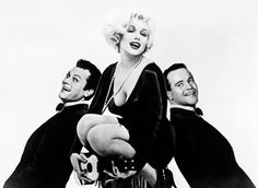 "Tony Curtis, Marilyn Monroe y Jack Lemmon para ""Con Faldas y a lo Loco"" (Some Like It Hot), 1959"