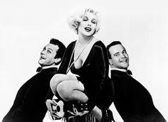 """Tony Curtis, Marilyn Monroe y Jack Lemmon para """"Con Faldas y a lo Loco"""" (Some Like It Hot), 1959"""