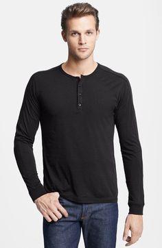Men's Vince Long Sleeve Knit Henley