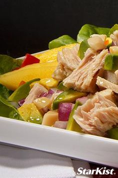 Mangos, avocado, and tuna combine to create the perfect ode to summer! Make tonight a salad night with this recipe.