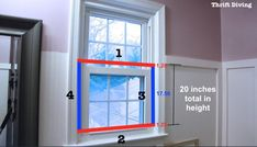 How to make a DIY privacy window screen - Add the thickness of the boards to figure the height of the privacy screen. Window Privacy Screen, Bathroom Window Privacy, Bathroom Windows, Bathroom Curtains, Redo Bathroom, Bathrooms, Privacy Screens, Sliding Window Treatments, Farmhouse Window Treatments