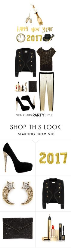 """""""Have a  Glittering Happy New Year"""" by shortyluv718 ❤ liked on Polyvore featuring Marc Jacobs, Yves Saint Laurent, Rebecca Minkoff and nye"""