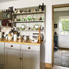 country chic kitchen | Modern Country Style: Country Kitchen Rule Three: Open Shelving