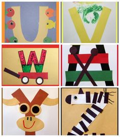 Letter of the Week Crafts for Preschoolers. Super cute and easy craft ideas for each letter