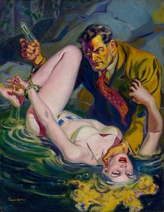 Norman Saunders Beautiful Pulp Painting