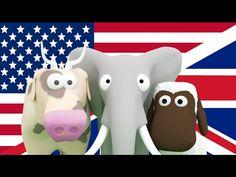 Englannin oppimista lapsille! Opeta lapsille eläimiä, kulkuneuvoja ja numeroita englanniksi - YouTube