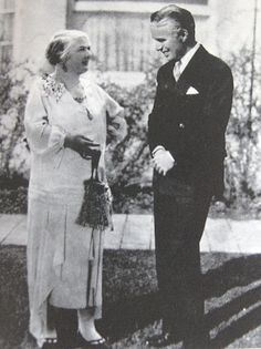 Chaplin and his mother