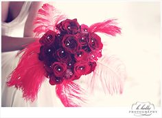 red feather bouquet