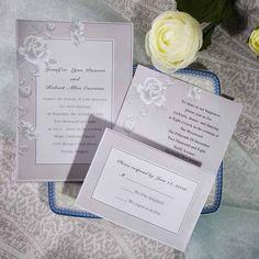 elegant grey rose floral wedding invitation samples w Inexpensive Wedding Invitations, Silver Wedding Invitations, Wedding Invitations Online, Wedding Invitation Samples, Inexpensive Wedding Venues, Floral Wedding Invitations, Invites, Budget Wedding, Wedding Themes