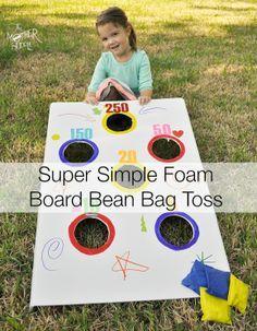 Make your own bean bag toss or DIY ring toss