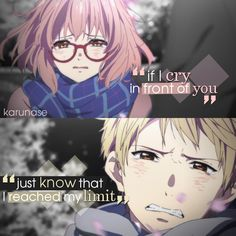 """If I cry in front of you, just know that I reached my limit.."" 