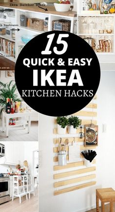 Are you looking to upgrade your IKEA furniture with some simple hacks? These 15 Ikea Kitchen Hacks will make your kitchen gorgeous while staying on a strict budget! IKEA furniture doesn't need to look dull and boring, you can easily update your kitchen with these IKEA Kitchen Hacks.
