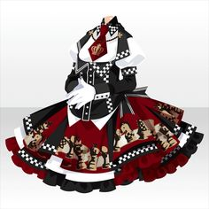 Check Mate Chess One-Piece ver. Character Costumes, Character Outfits, Fashion Design Drawings, Fashion Sketches, Anime Outfits, Cool Outfits, Kleidung Design, Clothing Sketches, Anime Dress