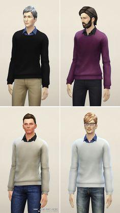 Rusty Nail: Basic sweater B • Sims 4 Downloads
