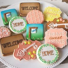 Spring time real estate cookies for an open house!  sc 1 st  Pinterest & Front Door Favors with TOPPER | Pinterest | Open house parties Open ...
