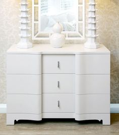 brigitte large 3 drawer bri 225 06 lacquer finish silver tassel pulls bungalow 5 white lacquered