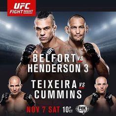 UFC Fight Night 77: Belfort vs. Henderson 3 Fightcard
