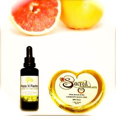"""Did you know grapefruit seed extract is effective against both gram positive and gram negative bacteria?! That's why made this addition to our Longevity Nectar #HopsXFactor The New and improved formula, only available on our e-store: http://www.sacredchocolate.com/HOPS-X-FACTOR-Lucedin-50ml-Miron-Glass/ """"Lighten up and go deep – eternity is right around the corner."""" #rawkstars"""