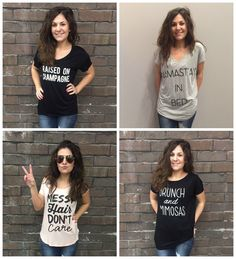 NEW ARRIVALS<3 Graphic tees are selling like crazy! Get yours today! - $23 #graphictanks #instafunny #champange  #newarrivals #apricotlanedesmoines #shoplocal #apricotlane #shopalb #favorites #Springfashion