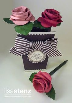flower pens & vase from Lisa Stenz - she always has fantastic ideas!