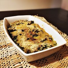 Espinafre gratinado com presunto e parmesão (a arte de variar a verdura de todo dia)