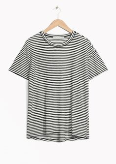 & Other Stories image 1 of Striped Shirt in Black/White