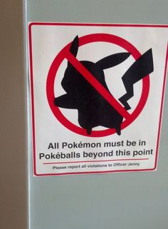 Incredibly Appropriate Pokemon Sign