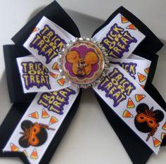 Halloween Minnie Halloween Bow Not So Scary Halloween by bowsforme, $6.99