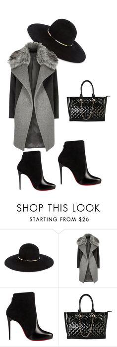 """""""men"""" by fatimazbanic ❤ liked on Polyvore featuring Eugenia Kim, River Island, Christian Louboutin and Rimen & Co."""