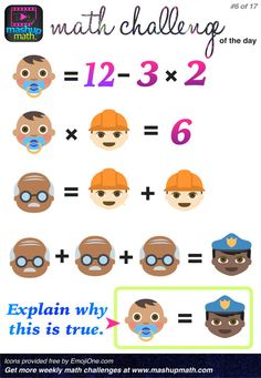 17 Fun and Printable Math Puzzles for Elementary and Middle School Students A Post By: Anthony Persico Math Games, Math Activities, Games For Grade 1, Math Challenge, Maths Puzzles, Maths Algebra, Daily Math, Printable Math Worksheets, Math Questions