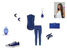 """""""Setember/ Sapphire"""" by katmccreery on Polyvore featuring Coleman, Effy Jewelry, FOSSIL, FRACOMINA, Escada Sport, Converse, Nixon, claire's and Blue Nile"""