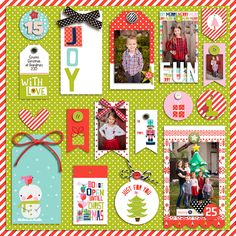 Bella Blvd Holly Jolly Christmas Collection | Fun digital layout by Krista Lunc