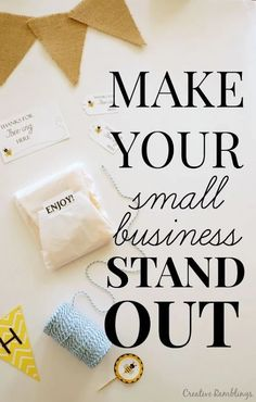 Help Your Small Business Stand Out How to make your small business stand out from the crowd. Simple tips you can use Right Now to up your game. AD to make your small business stand out from the crowd. Simple tips you can use Right Now to up your game. Etsy Business, Craft Business, Business Advice, Home Based Business, Business Entrepreneur, Business Branding, Creative Business, Online Business, Business Opportunities