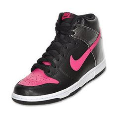 Nike Dunk High Women's Casual Shoe  Black/Pink | FinishLine.com