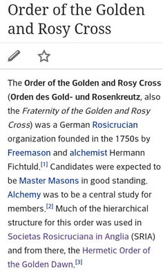 The Order of the Golden & Rosy Cross 1/2