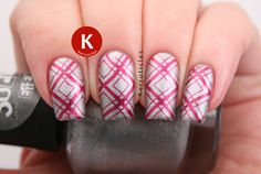 Silver and red diamond stamping, using W7 Silver Suede, A England Perceval and CICI & SISI 21