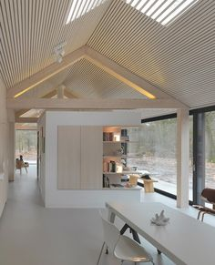 Raw plywood was used to create a maintenance-free interior ...